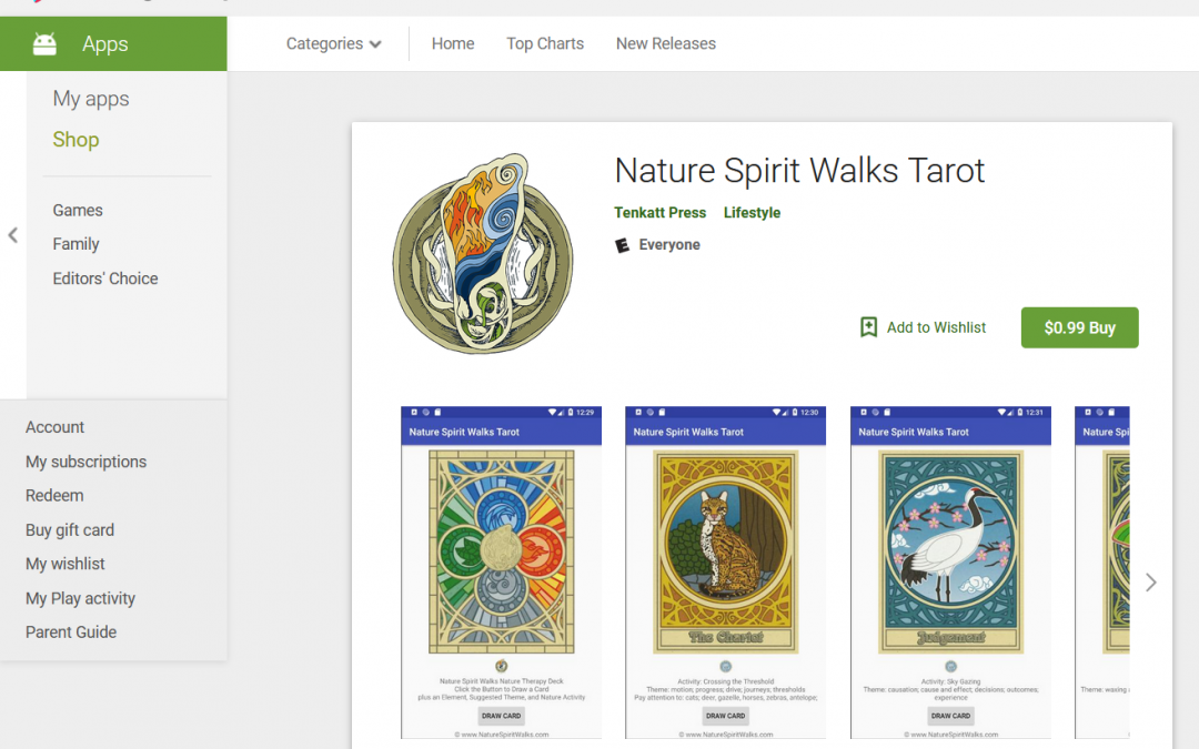 Nature Spirit Walks now available in the Android App Store!